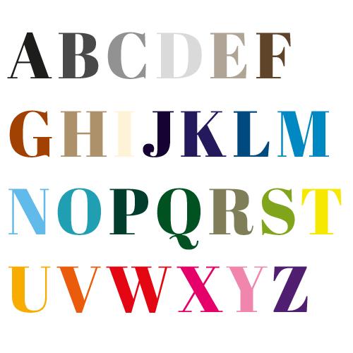 Naamsticker | Lettertype 40