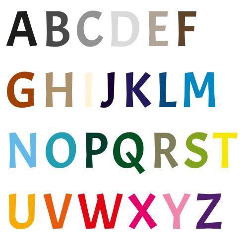 Naamsticker | Lettertype 41