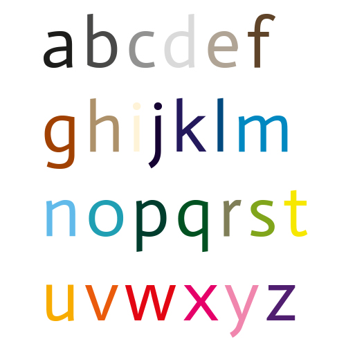Naamsticker | Lettertype 42