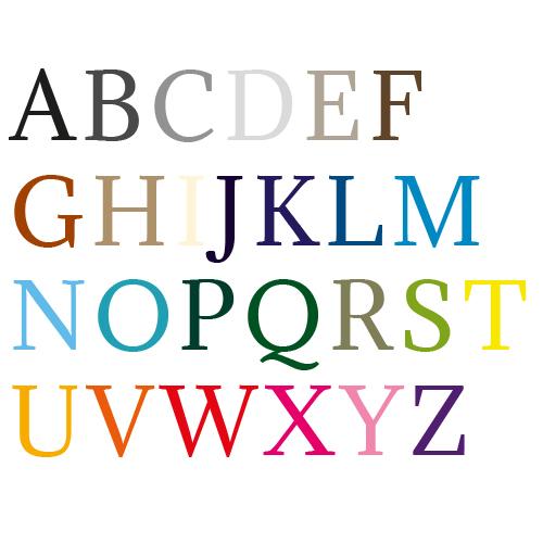 Naamsticker | Lettertype 43