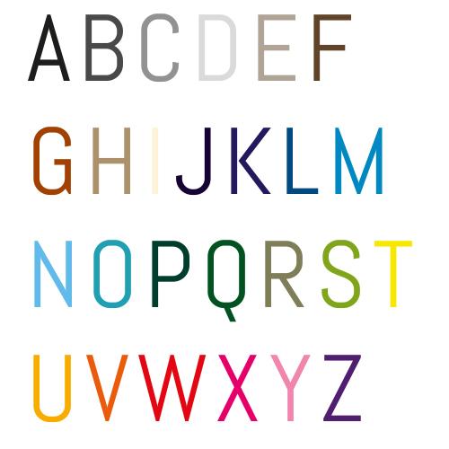 Naamsticker   Lettertype 4