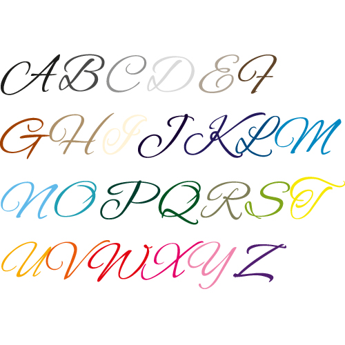 Naamsticker | Lettertype 5