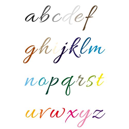 Naamsticker | Lettertype 6