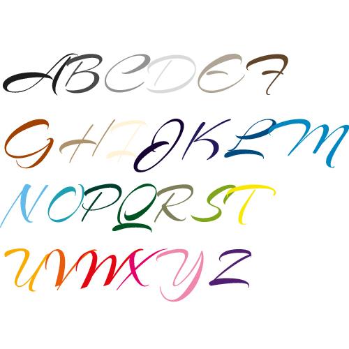 Naamsticker | Lettertype 7