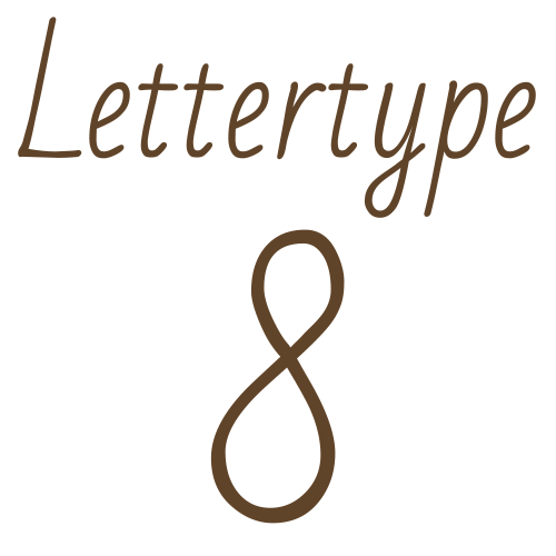 Naamsticker | Lettertype 8