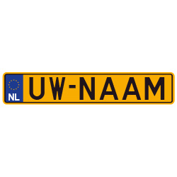 Nummerbord stickers