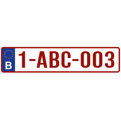 Nummerbord sticker – Kentekenplaat sticker België