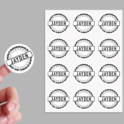 Sticker stempel