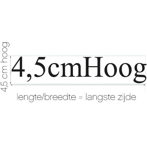 Naamsticker | formaat 4,5 cm hoog