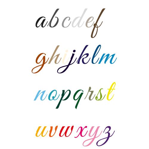 Naamsticker   Lettertype 2