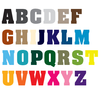 Naamstickers | Lettertype 1
