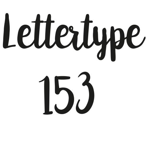 Naamsticker | Lettertype 153