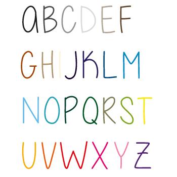 Naamsticker | Lettertype 17