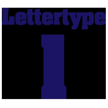 Naamsticker | Lettertype 1