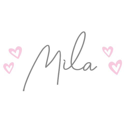 Sticker naam met hartjes