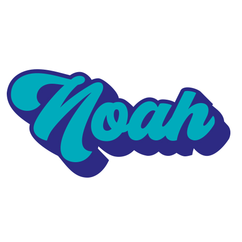 Sticker naam 2 kleuren