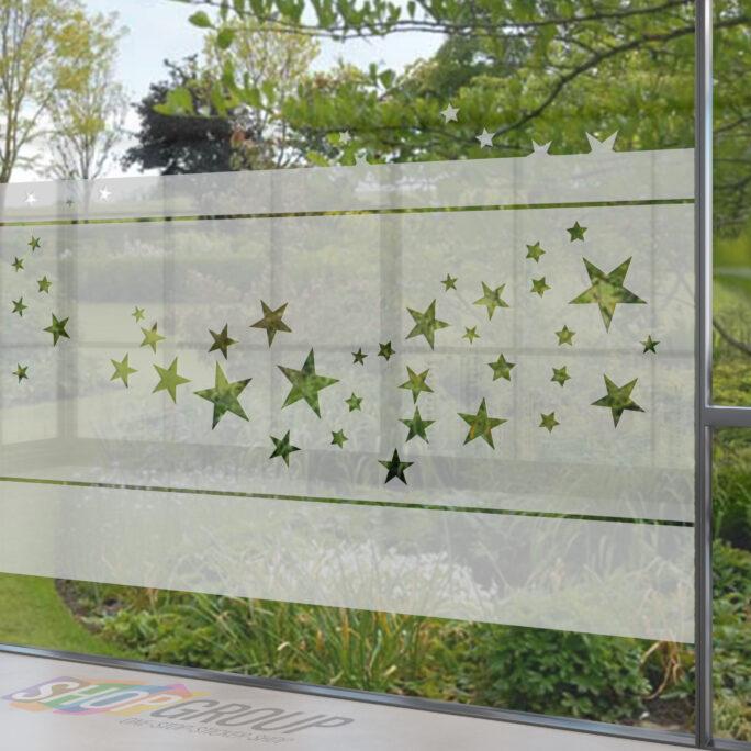 Zelfklevende raamfolie met sterren