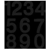 Losse cijfer stickers