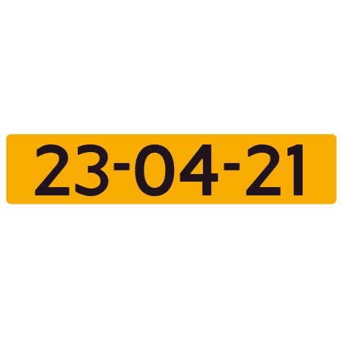 Nummerplaat met naam