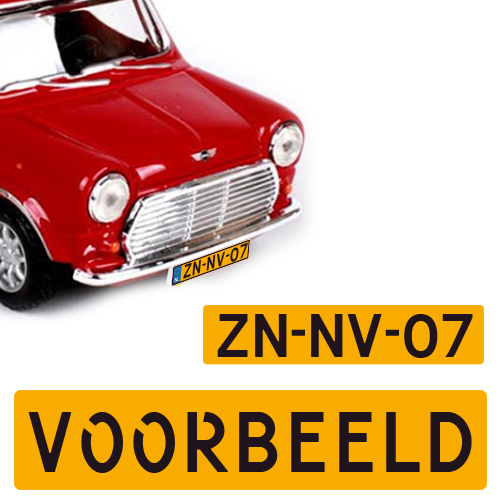 Modelauto kenteken sticker