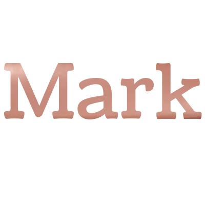 Roze gouden sticker met naam