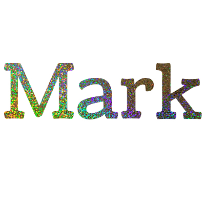 Naam sticker glitters