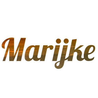 Gouden sticker naam