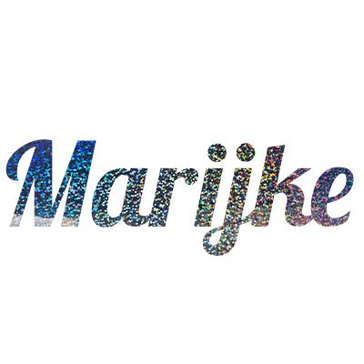 Glitter stickers met eigen tekst
