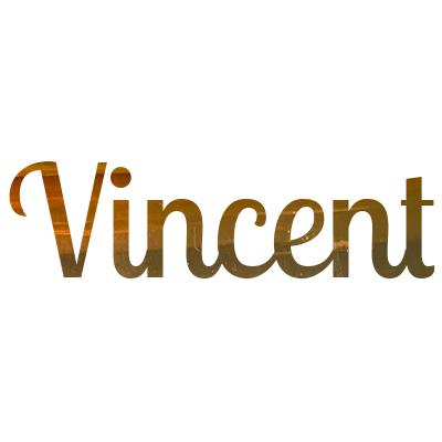 Gouden sticker met naam
