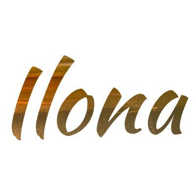 Sticker goud met eigen naam