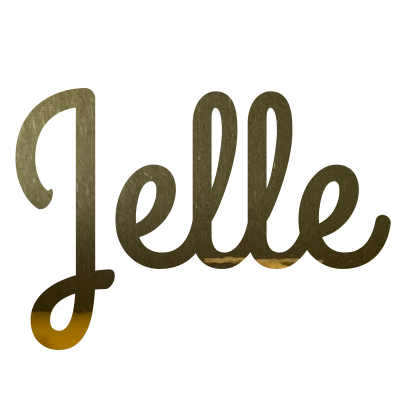 Goud sticker met naam