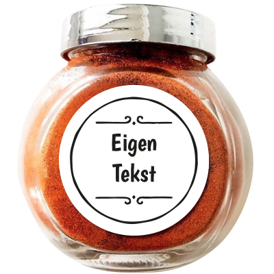 Kruidenpot stickers met eigen tekst