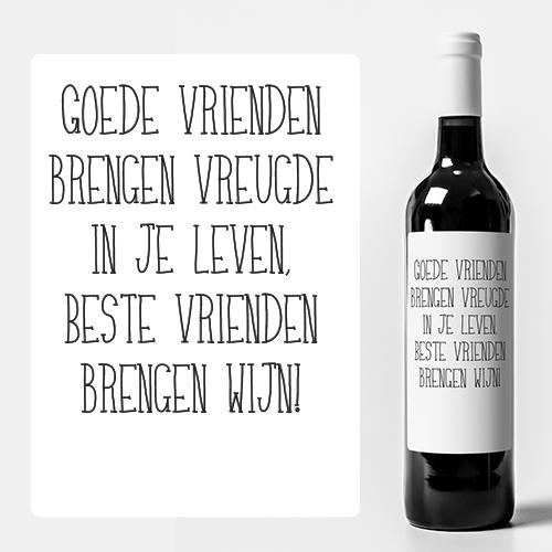 Wijn etiketten maken