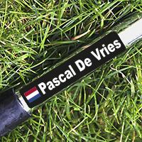 Golfclubs naamstickers met Nederlandse vlag