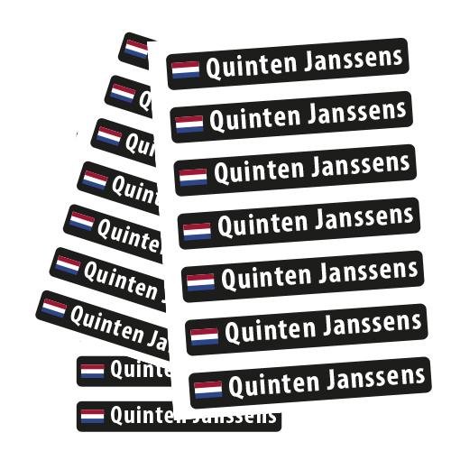 Naamstickers met Nederlandse vlag