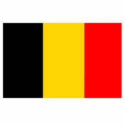 Vlag Belgie sticker | Landen vlaggenstickers