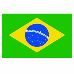 Vlag Brazilië sticker   Landen vlaggenstickers