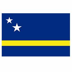 Vlag Curacao sticker   Landen vlaggenstickers