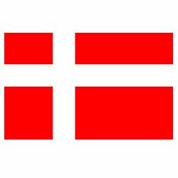 Vlag Denemarken sticker | Landen vlaggenstickers