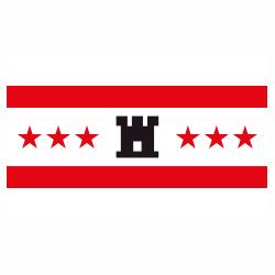 Vlag Drenthe sticker   vlaggenstickers
