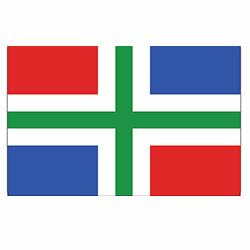 Vlag Groningen sticker | vlaggenstickers
