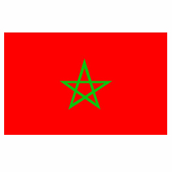 Vlag Marokko sticker | Landen vlaggenstickers