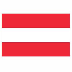 Vlag Oostenrijk sticker | Landen vlaggenstickers