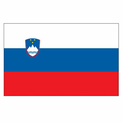 Vlag Slovenië sticker | Landen vlaggenstickers