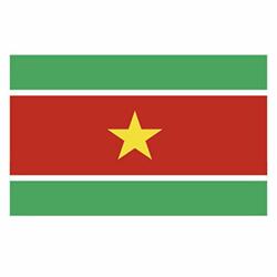 Vlag Suriname sticker | Landen vlaggenstickers