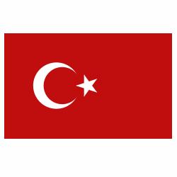 Vlag Turkije sticker   Landen vlaggenstickers