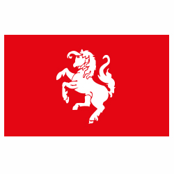 Vlag Twente sticker | Streek vlaggenstickers