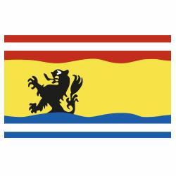 Vlag Zeeuws-Vlaanderen sticker | Streek vlaggenstickers