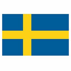 Vlag Zweden sticker | Landen vlaggenstickers