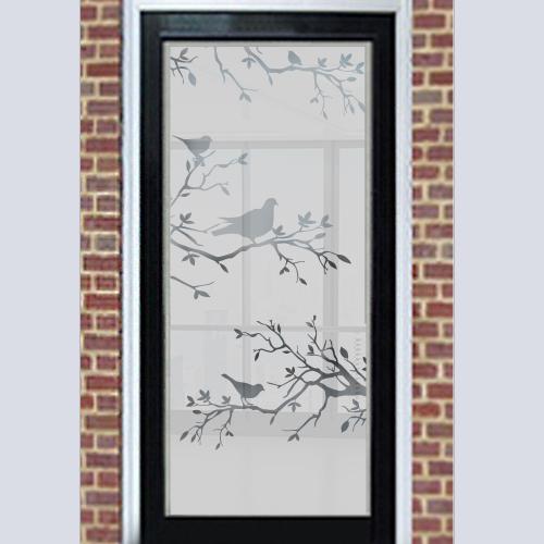 Zelfklevende raamfolie vogels op tak